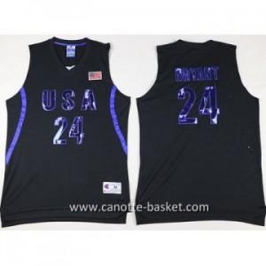 maglie basket 2016 USA Kobe Bryant #24 nero