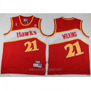 Maglie nba Atlanta Hawks Dominique Wilkins #21 rosso Retro