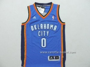 Maglie nba bambino Oklahoma City Thunde Russell Westbrook #0 blu