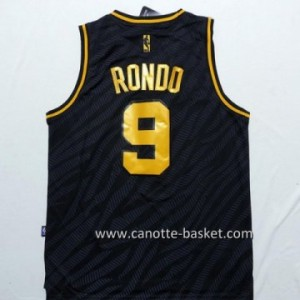 Maglie nba Black Fashion Boston Celtics Rajon Rondo #9