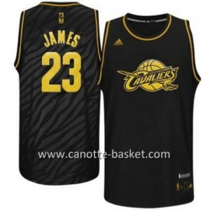 Maglie nba Black Fashion Cleveland Cavalier LeBron James #23