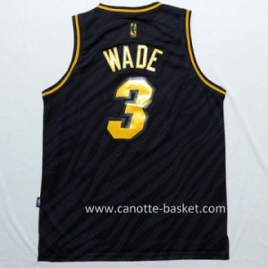 Maglie nba Black Fashion Miami Heat Dwyane Wade #3