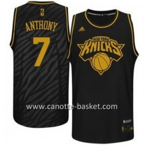 Maglie nba Black Fashion New York Knicks Carmelo Anthony #7