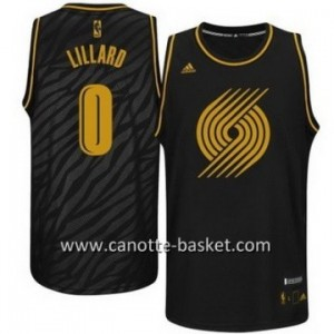 Maglie nba Black Fashion Portland Blazers Lillard #0