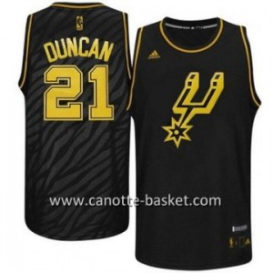 Maglie nba Black Fashion San Antonio Spurs Tim Duncan #21