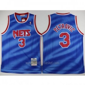 Maglie nba Brooklyn Nets Drazen Petrovic #3 all star blu