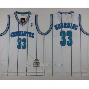 Maglie nba Charlotte Hornet Alonzo Mourning #33 bianco