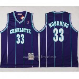 Maglie nba Charlotte Hornet Alonzo Mourning #33 porpora