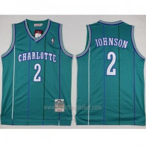 Maglie nba Charlotte Hornet Larry Johnson #2 blue Lake