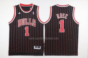 Maglie nba Chicago Bulls Derrick Rose #1 striscia rosso nero