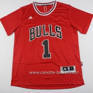 Maglie nba Chicago Bulls Derrick Rose #1 rosso manica lunga