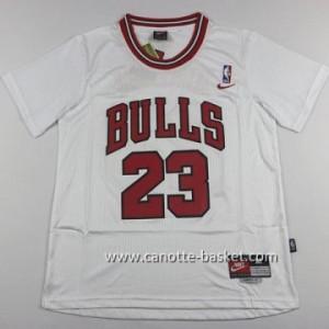 Maglie nba Chicago Bulls Michael Jordan #23 bianco manica lunga