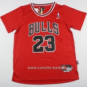 Maglie nba Chicago Bulls Michael Jordan #23 rosso manica lunga