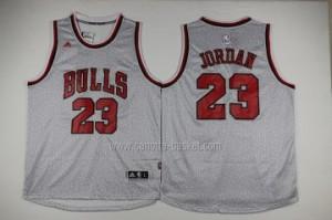 Maglie nba Chicago Bulls Michael Jordan #23 moda grigio