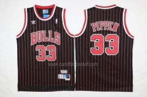 Maglie nba Chicago Bulls Scottie Pippen #33 striscia rosso nero