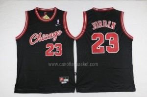 Maglie nba Chicago tutto nero Bulls Michael Jordan #23