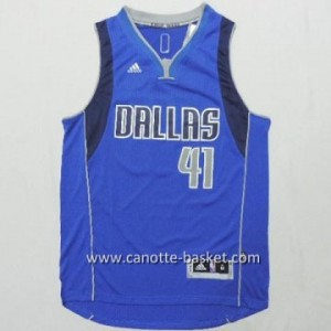 nuovo Maglie nba Dallas Mavericks Dirk Nowitzki #41 blu