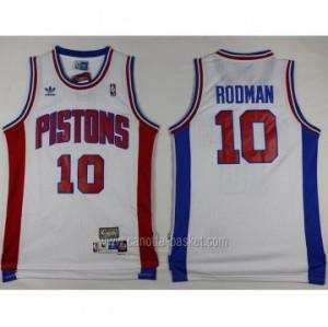 Maglie nba Detroit Pistons Dennis Rodman #10 bianco