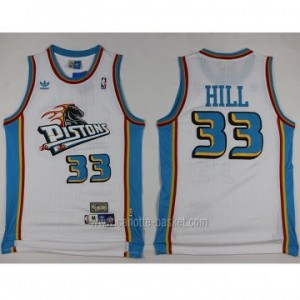 Maglie nba Detroit Pistons Grant Hill #33 bianco