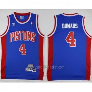 Maglie nba Detroit Pistons Joe Dumars #4 blu