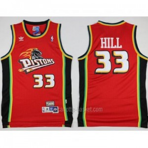 Maglie nba Detroit Pistons rosso Grant Hill #33