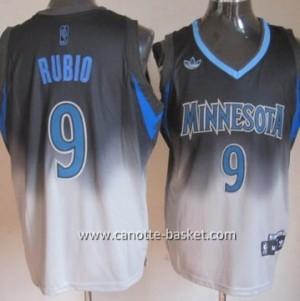 Maglie nba Minnesota Timberwolves Ricky Rubio #9 Fadeaway Moda