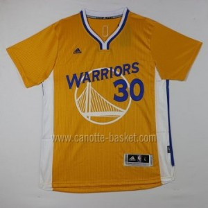 Maglie nba Golden State Warriors Stephen Curry #30 giallo manica corta