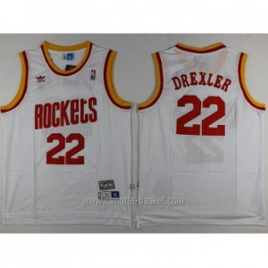 Maglie nba Houston Rockets Clyde Drexler #22 bianco Retro