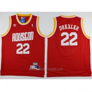Maglie nba Houston Rockets Clyde Drexler #22 rosso Retro