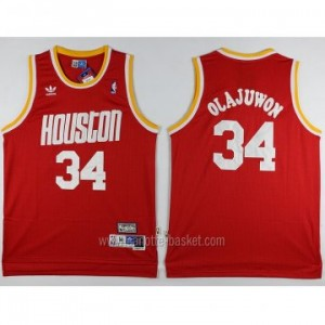 Maglie nba Houston Rockets Hakeem Olajuwon #34 rosso Retro