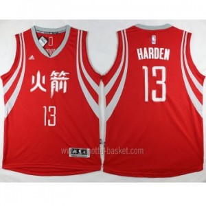 Maglie nba Houston Rockets James Harden #13 rosso Versione cinese