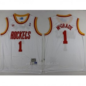 Maglie nba Houston Rockets Tracy McGrady #1 bianco Retro