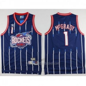 Maglie nba Houston Rockets Tracy McGrady #1 blu Retro