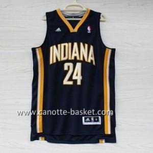 Maglie nba Indiana Pacers Paul George #24 blu marino