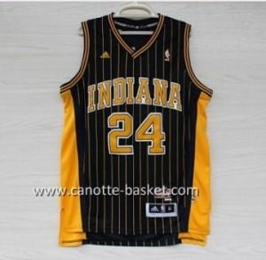 Maglie nba Indiana Pacers Paul George #24 bianco strisce verticali