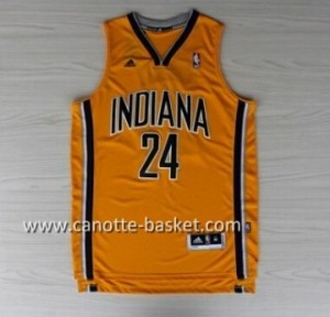 Maglie nba Indiana Pacers Paul George #24 giallo