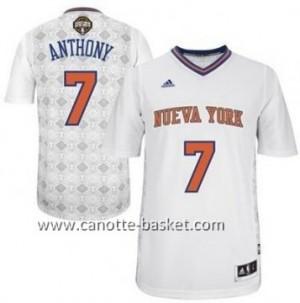 Maglie nba New York Knicks Carmelo Anthony #7 bianco Latina Notte