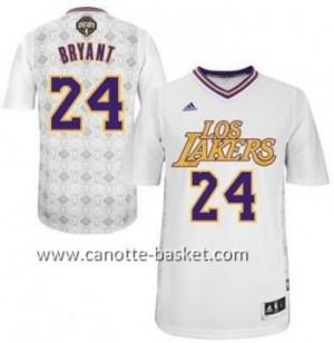 Maglie nba Los Angeles Lakers Kobe Bryant #24 bianco Latina Notte