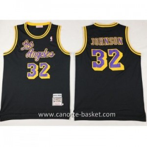 Maglie nba Los Angeles Lakers Magic Johnson #32 nero