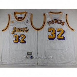 Maglie nba Los Angeles Lakers Magic Johnson #32 bianco