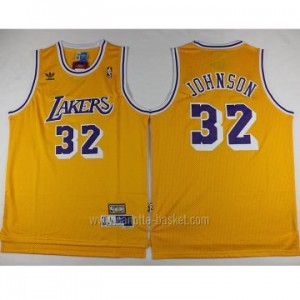 Maglie nba Los Angeles Lakers Magic Johnson #32 giallo