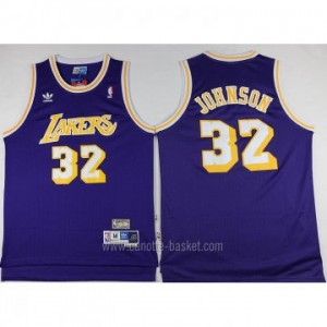 Maglie nba Los Angeles Lakers Magic Johnson #32 porpora