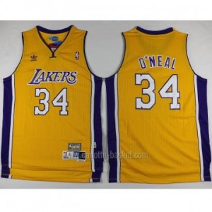 Maglie nba Los Angeles Lakers Shaquille O'Neal #34 giallo