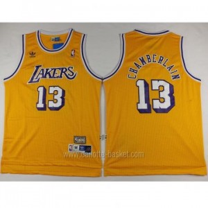 Maglie nba Los Angeles Lakers Wilt Chamberlain #13 giallo