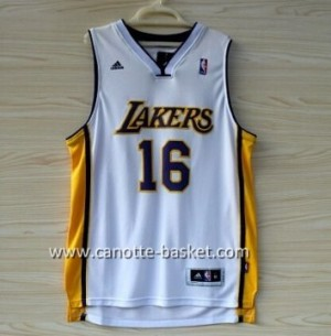 Maglie nba Los Angeles Lakers Pau Gasol #16 bianco