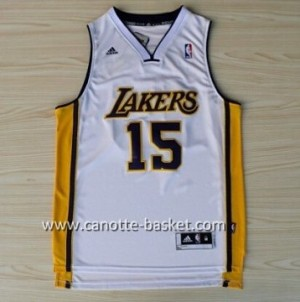 Maglie nba Los Angeles Lakers Metta World Peace #15 bianco