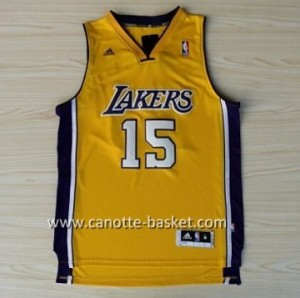 Maglie nba Los Angeles Lakers Metta World Peace #15 giallo