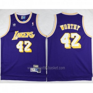 Maglie nba Los Angeles Lakers porpora James Worthy #42