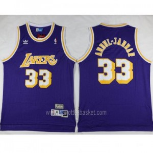 Maglie nba Los Angeles Lakers porpora Kareem Abdul-Jabbar #33