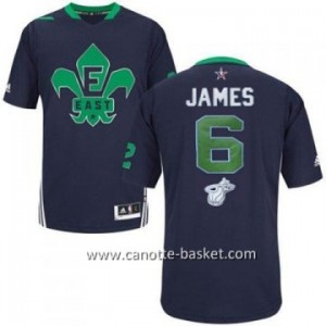 Maglie 2014 All-Star LeBron James #6 blu
